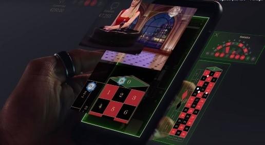 salle de jeu en direct sur Smartphone