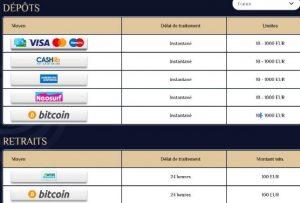 vegasplus transactions financieres
